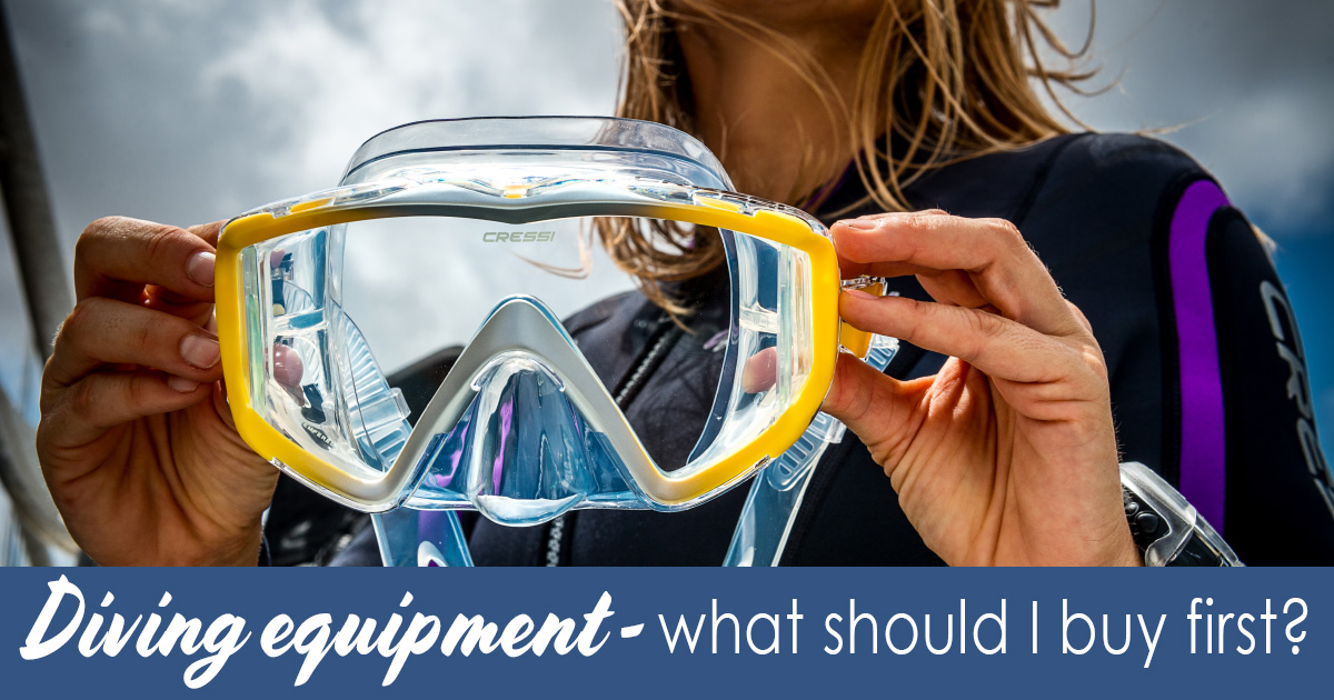 Diving equipment – what do I buy first?