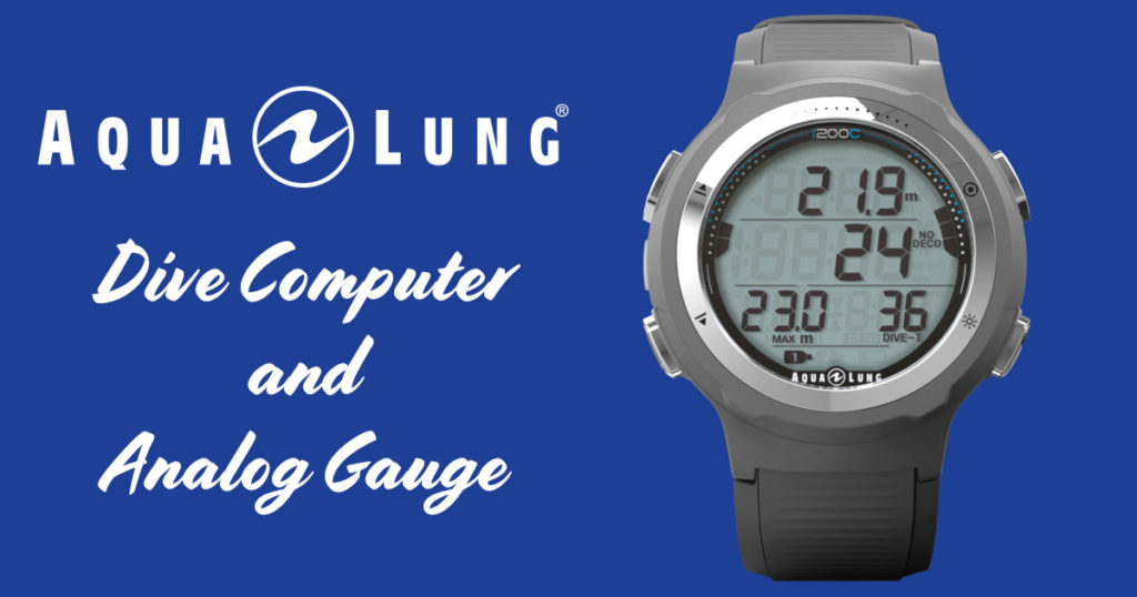 Dive Computer and Analog Gauge from AquaLung